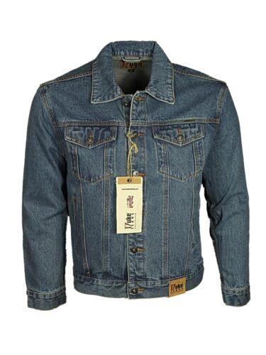 Duke London Mens Smart Casual Denim Jacket Stonewash Designer Jeans Shirts