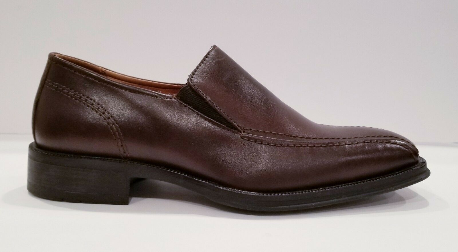 New Mens BOSTONIAN Leather strada collection Brown Puzo shoes Sz 9 Made in