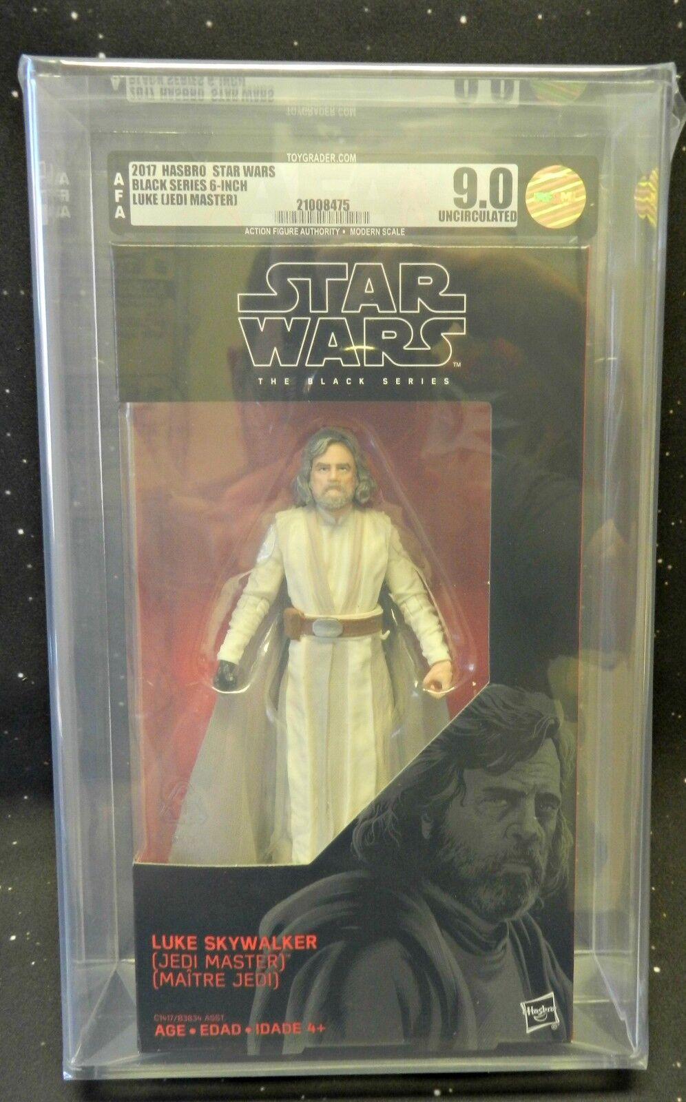 2017 Hasbro Star Wars The nero Series 6  de Luke Skywalker Jedi Maestro AFA U9.0