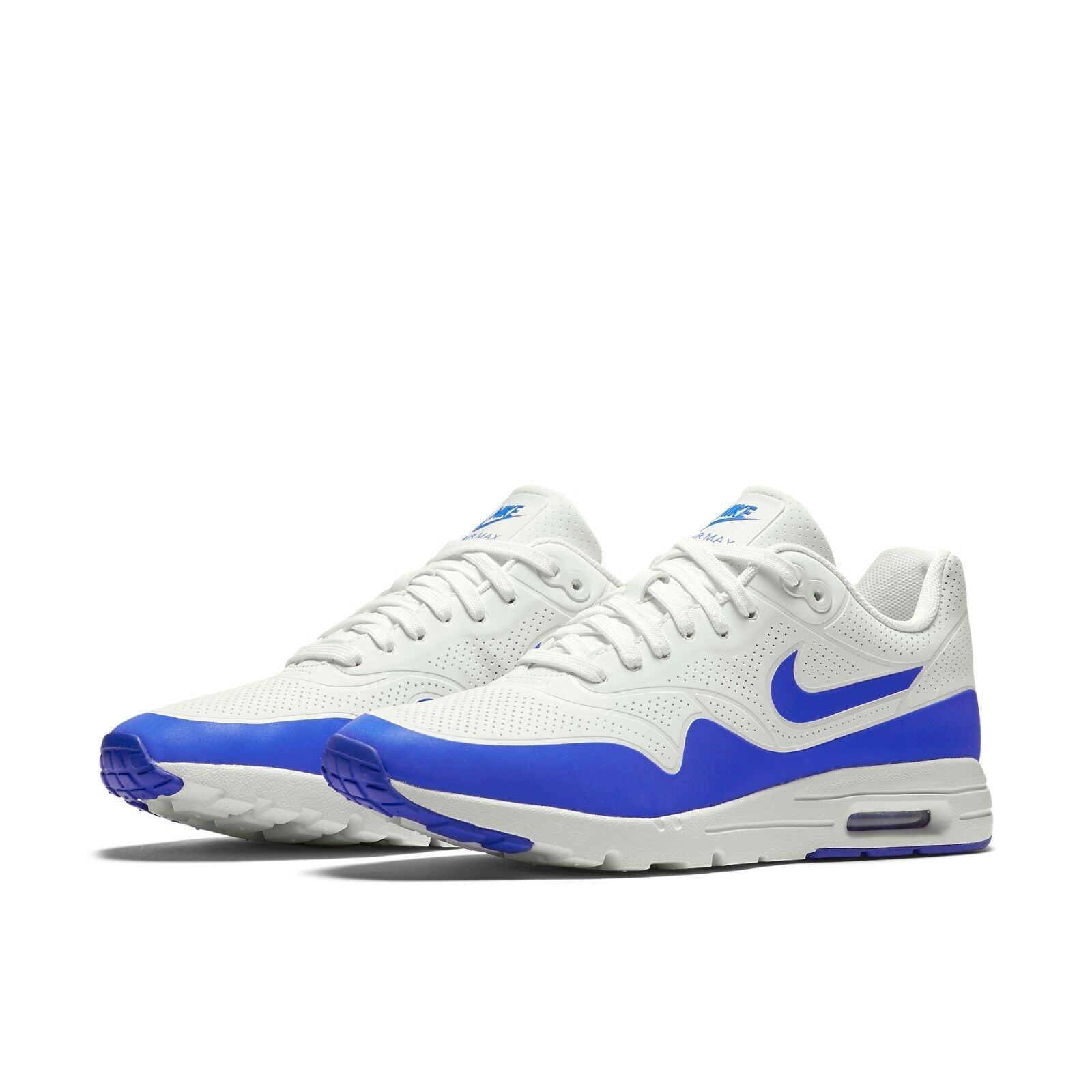 Women's Nike Air Max 1 Ultra Moire Sneaker Shoes NEW Summit White / Racer Blue