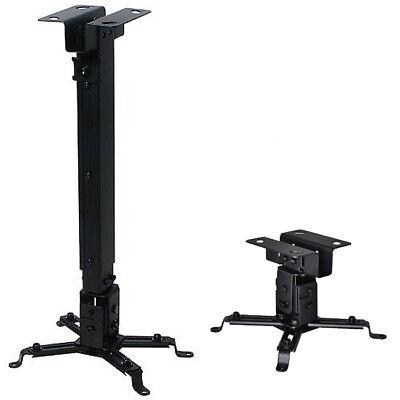 Universal Extendable Tilt DLP LCD Ceiling Projector Mount Bracket 44 lbs Black
