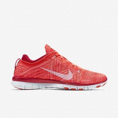 Femmes Nike Gratuit Tr Flyknit Crimson Basket Course 718785 601