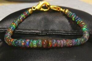 Natuerlichen-aethiopischen-Schwarz-Feuer-Opal-Perlen-Armband-echten-Opal-Schmuck-ddl1121