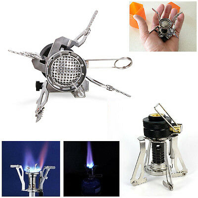 Portable Outdoor Picnic Gas Burner Foldable Camping Mini Steel Stove Stand+ Case