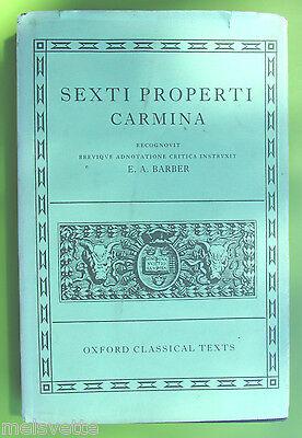 Sexti Properti Carmina-EA Barber-1960-Oxford Classical Greek/Latin Texts-HC Book