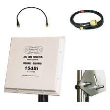 UMTS Panel Antenne 15dB 5M Kabel Huawei E970 B970 SMA