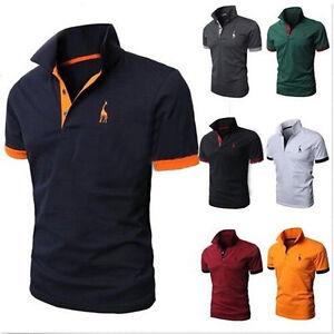 mens slim fit short sleeve polo shirt golf tops casual. Black Bedroom Furniture Sets. Home Design Ideas