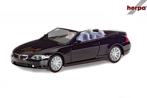 + NEU in OVP Herpa 023245-002 BMW 6er Cabrio 1:87