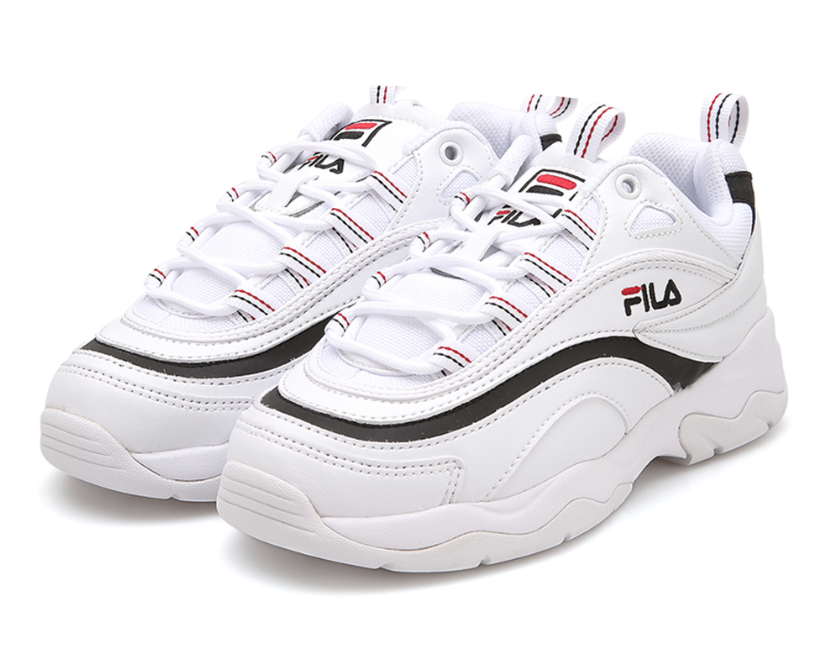 New FILA Ray Sneakers Athletic Running Shoes White FS1SIA3061X-WBK US Comfortable