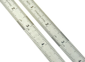 "2pc 6"" Pocket Pouch Metal Measuring Ruler Set Metric & Sae Us Fast Free Shipping"