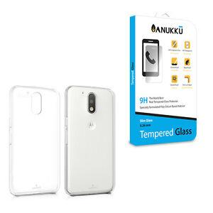 Custodia-Cover-Trasparente-Vetro-Temperato-Per-Motorola-Moto-G4-amp-G4-Plus-2016