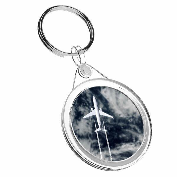 1 Aereo Jet X Flying Sky Cloud-portachiavi Ir02 Mamma Papa 'regalo Di Compleanno #16468