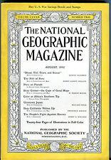 National Geographic Magazine August 1942 Peru Japan Baja EX 011916jhe