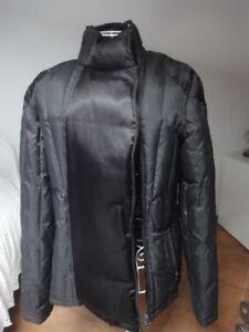 info for 303c9 48877 Dettagli su LIU JO Giubbotto Piumino Donna taglia 44 nero inserti raso  chiusura laterale
