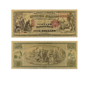 American Gold Banknote 5 Dollar 1875 Year Bill Note ...