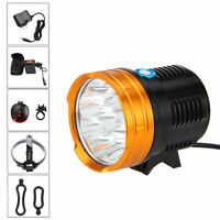 Super Bright 20000lm 9xcree Xm-l R8 Led Front Bicycle Bike Light+laser Taillight