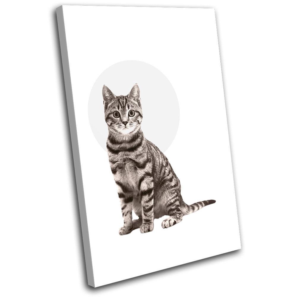 Cat Tabby Tabby Tabby Modern Abstract Animals SINGLE LONA pa rojo  arte Foto impresion 40c888