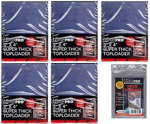 59f73e9bf2d Lot of 50 Ultra Pro 120 Point Toploaders 100 thicker sleeves Free ...