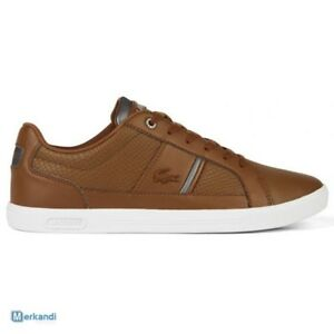 a10b722db898a1 Image is loading lacoste-europa-417-1-spm-leather-trainers-shoes-