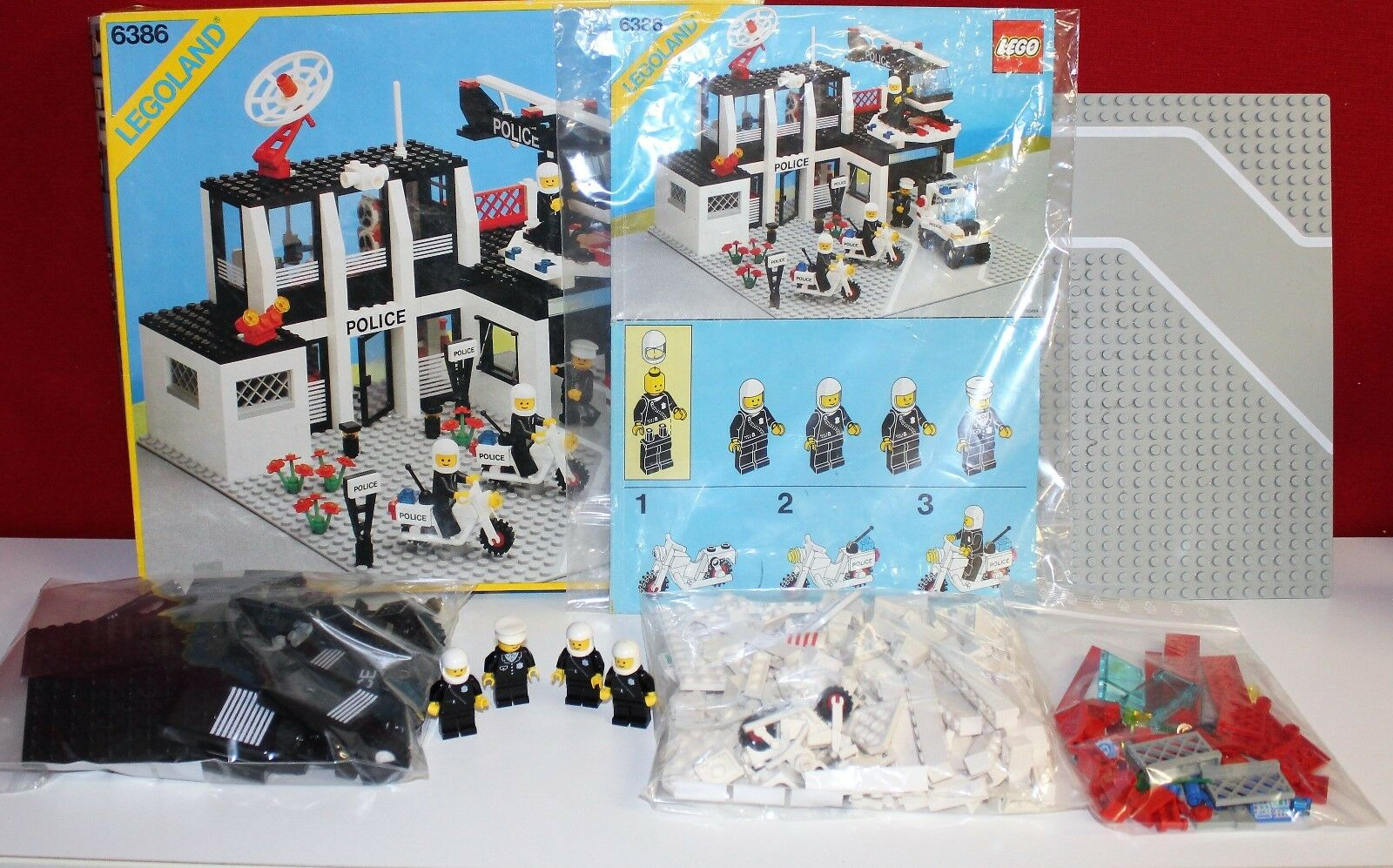 Lego 6386 Police Command Base aus 1986 Classic Town OBA OVP