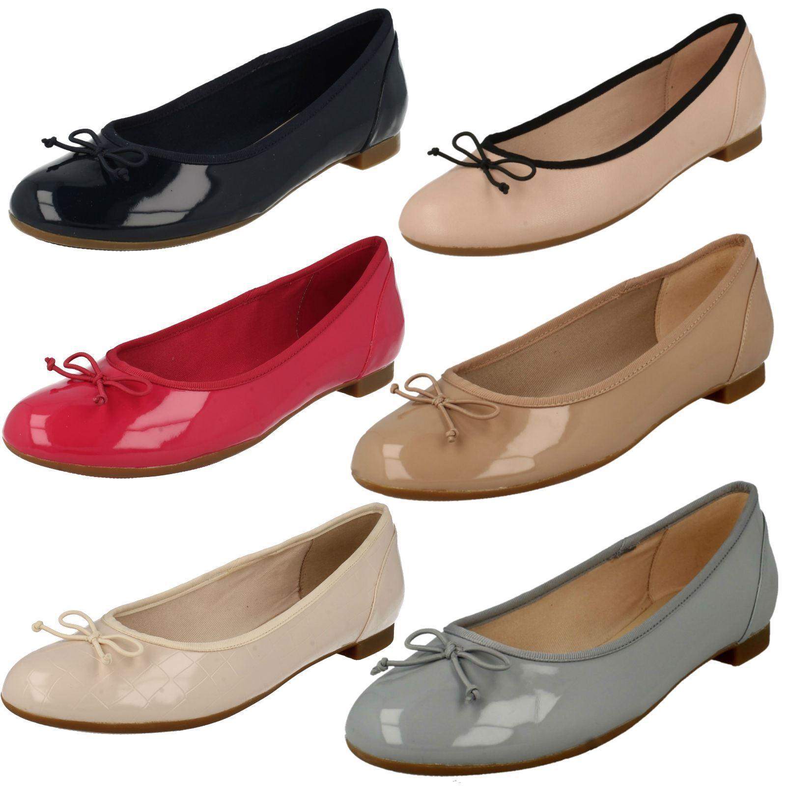 Damas Clarks resbalón en el cuero cuero cuero Arco Bailarina Plana Zapatos De Salón Talla Couture Bloom  ventas en linea