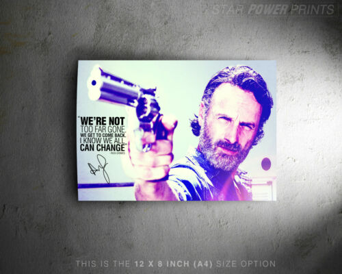 Walking Dead Andrew Lincoln pre signed photo poster We/'re not too far gone