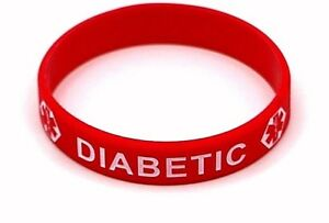 Image Is Loading Diabetic Medical Alert Bracelet Id Emergency Wristband