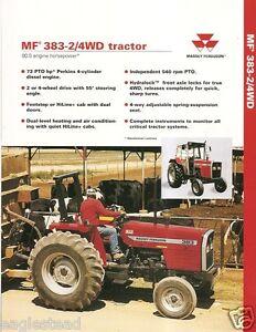 Farm tractor brochure massey ferguson mf 383 24wd 1996 image is loading farm tractor brochure massey ferguson mf 383 2 fandeluxe Gallery