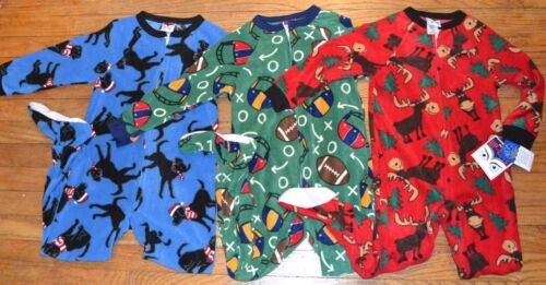 Boys Football Costume Style One Piece Zip Up Pajama Light Weight Super Comfy