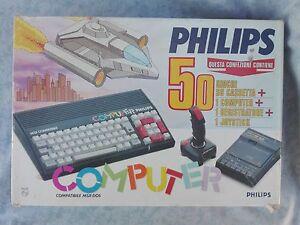 COMPUTER-VINTAGE-RETRO-CONSOLE-VIDEOGIOCHI-PHILIPS-MSX-BOXATO-BOXED-COMPLETO-ITA