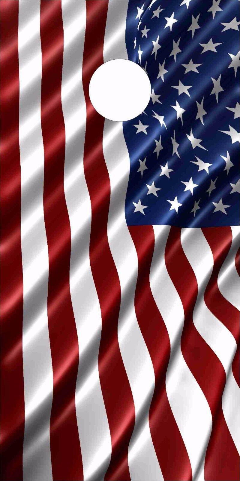American Flag LAMINATED Cornhole Wrap Bag Toss Skin Decal