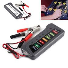 12V Car Auto Motorbike Motorcycle Battery Alternator Tester With LED Indicators