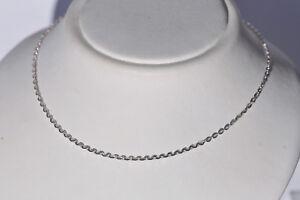 Echt-925-Sterling-Silber-Kette-Ankerkette-45-cm-Staerke-1-1mm-Nr-520