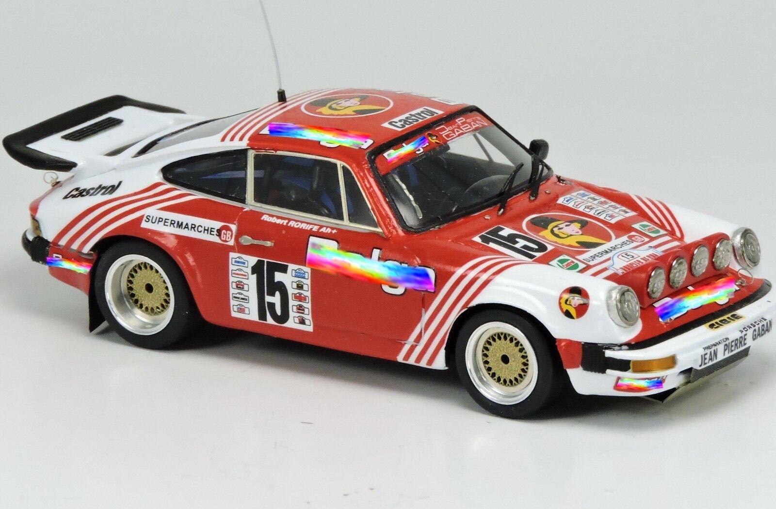 Kit Porsche 911 SC GR.4 Team Belga  15 Boucles De SPA 1980 - Arena kit 1 43