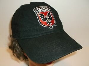 958d875163d D.C. UNITED Soccer Hat Ball Cap~BLACK~Small  Women Youth~Promo~FREE ...
