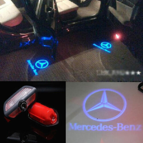 2x 3D Logo LED Door Light Laser Projector For Mercedes-Benz S Class S550 2015-17