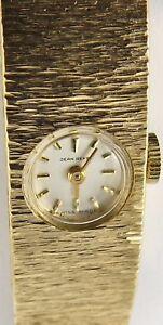 9ct-Solid-yellow-gold-Jean-Renet-Swiss-ladies-17-jewel-wrist-watch-Working-Order