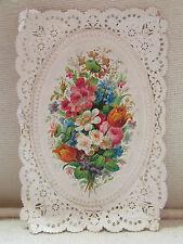 ancienne image religieuse pieuse canivet  holy card dentelle fleurs pretre