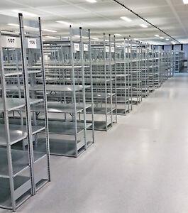 Fachbodenregal-Archiv-Aktenregal-2-x-10-m-H-1-950-x-B-1-000-x-T-300-mm