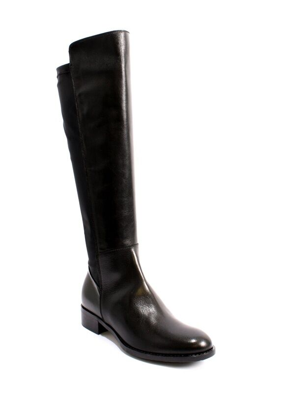 Donna Piu 9318 Black Leather Side-Zip / Elastic Insert Riding Boots 40 / US 10