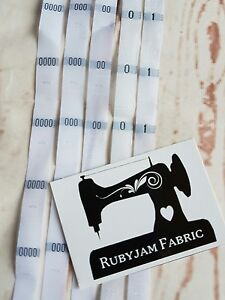 100 pack of size XS clothing labels WHITE sew in woven tags FREE POST AU