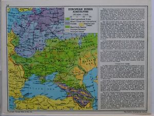 1961-SOVIET-MAP-EUROPEAN-RUSSIAAGRICULTURE-BLACKEARTH-REGION-CRIMEA-ISTANBUL