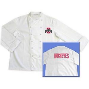 Ohio State Buckeyes Classic Chef Chefs Coat Jacket NCAA - Sizes: M L XL 2XL
