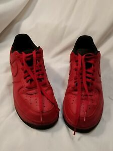 Nike Air Force 1 Gym Red 315122 613 Suede Leather Red Black Mod