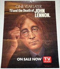 John Lennon * Beatles * Original Promo Poster for TV Guide * 1982