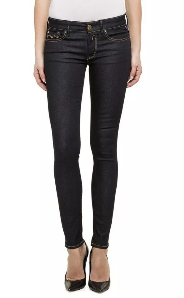 BNWT   REPLAY   W 28 donna LUZ Skinny Fit Indaco Scuro Jeans-WX689 RRP