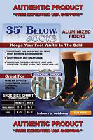 35 Below Socks 2 Pairs Black Size Large As Seen On Tv - Usa Seller Free Ship