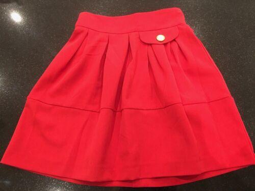 """New TopShop RED  Skater  Skirt RRP £27  Mini 18/"""" sizes 6 8"""