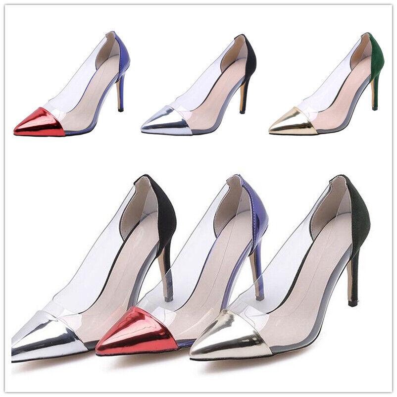 Damen Schuhe Pumps Stiletto Peeptoe High Heels Zehentrenner Pantoletten Gr34-39