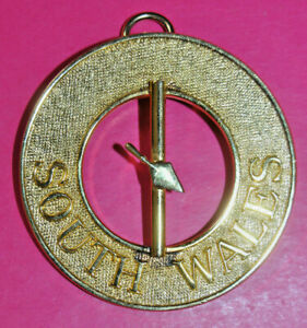 South Wales Royal & Select Masters Past District Grand Marshal collar jewel